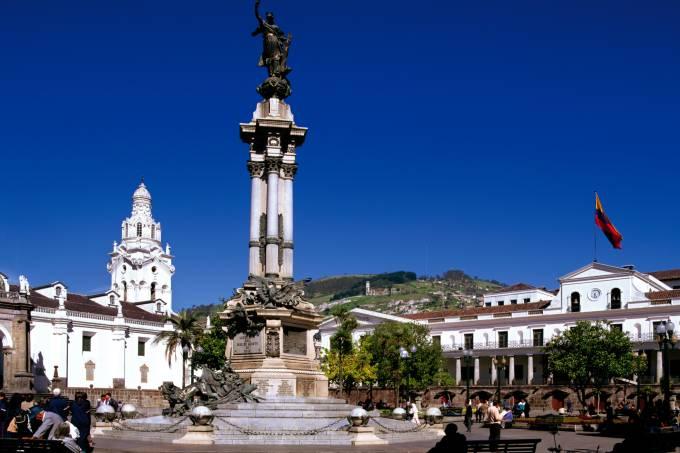 Praça da Independência em Quito, não Equador