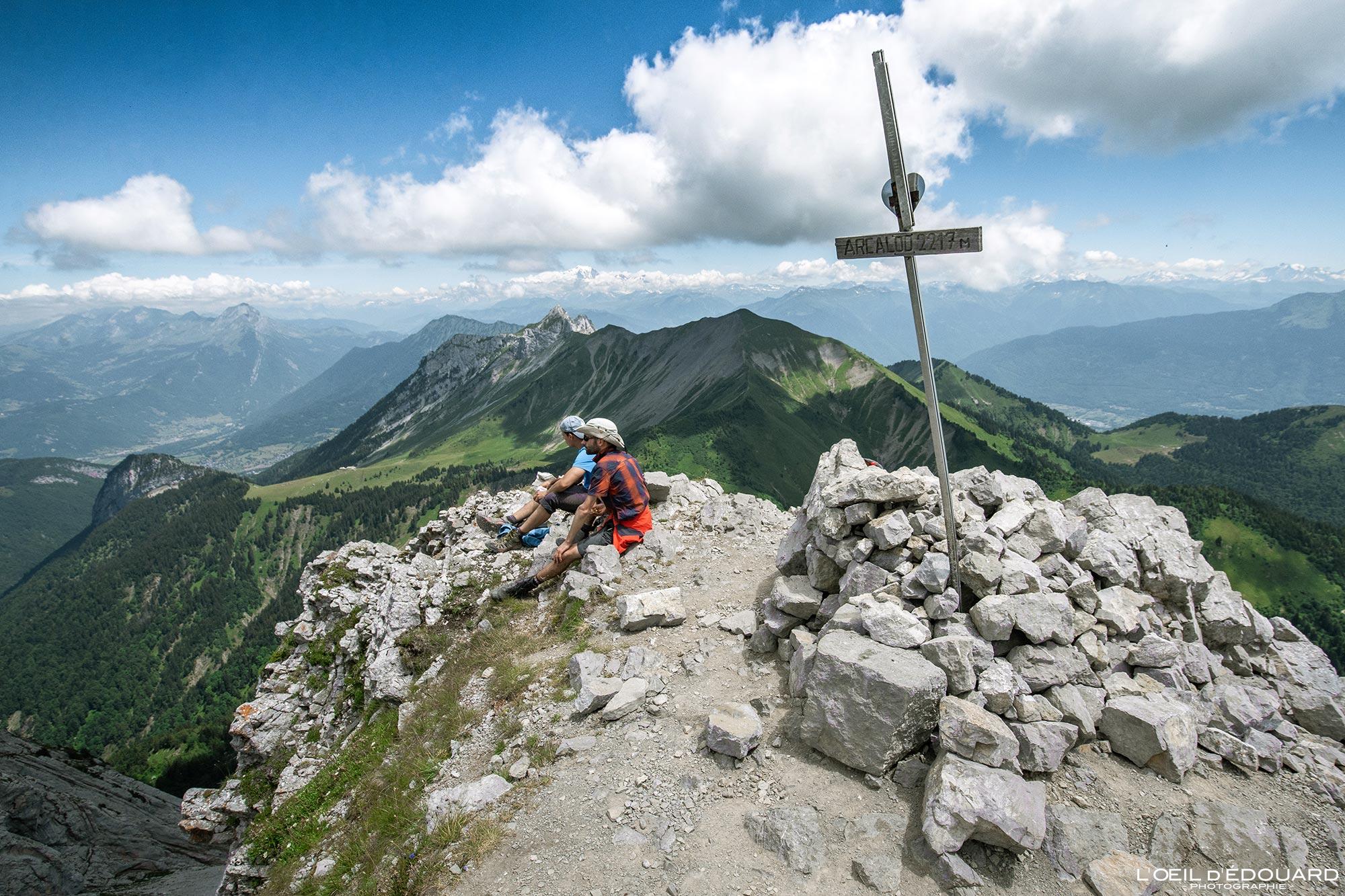 Randonnee Bauges Arcalod 0 sommet Trace Les Cimes