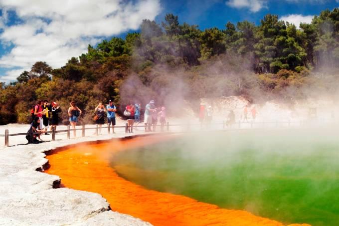 Champagne Pool Wai-o-Tapu Rotorua Nova Zelândia