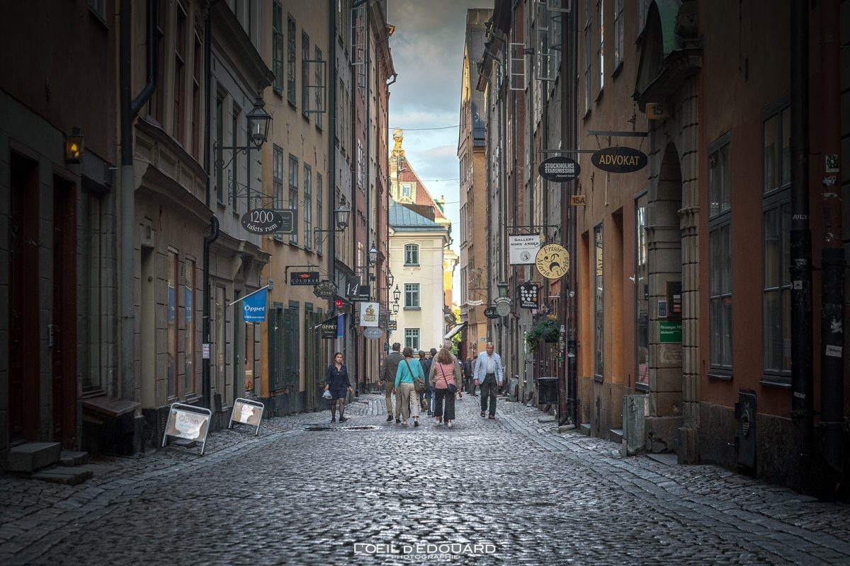 Rua Kopmangatan - Cidade Velha Gamla Stan Stadsholmen Estocolmo Suécia Sverige Street Suécia
