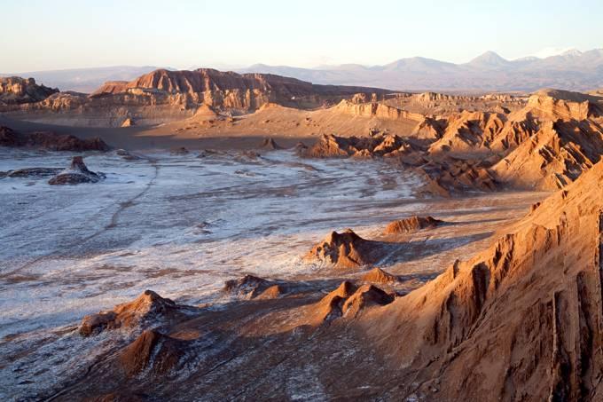 Vale da Lua, no deserto do Atacama, no norte do Chile