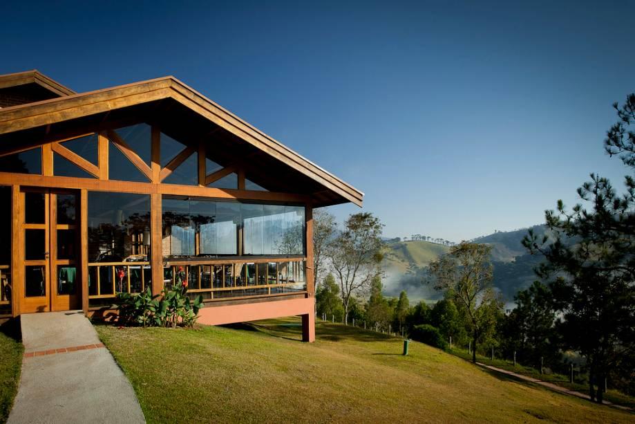 O restaurante Trincheira, que pertence à Pousada do Quilombo mas não atende hóspedes