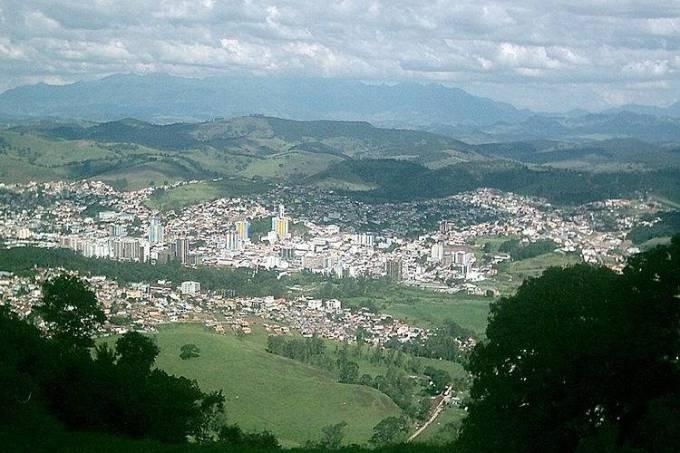 Vista aérea de São Lourenço em Minas Gerais