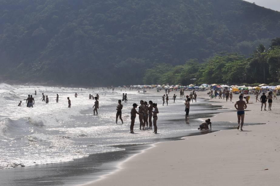 Praia de Cambury, em São Sebastião, São Paulo