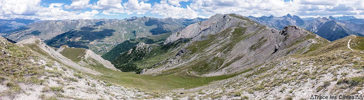 Vista das Queyras da Crête de la Tête de Jacquette (Hautes-Alpes)