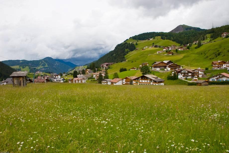 A pequena cidade de Selva di Valgardena