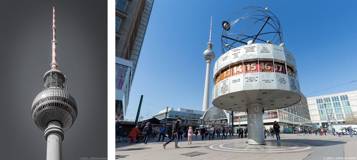 Torre Fernsehturm e Praça AlexanderPlatz Berlin Germany Deutschland Alemanha