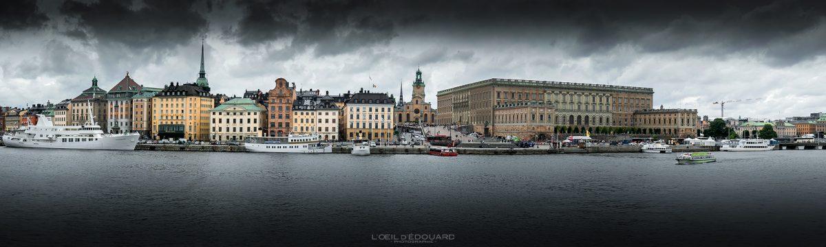 Gamla Stan Island Stadsholmen Estocolmo Suécia Sverige Suécia noite