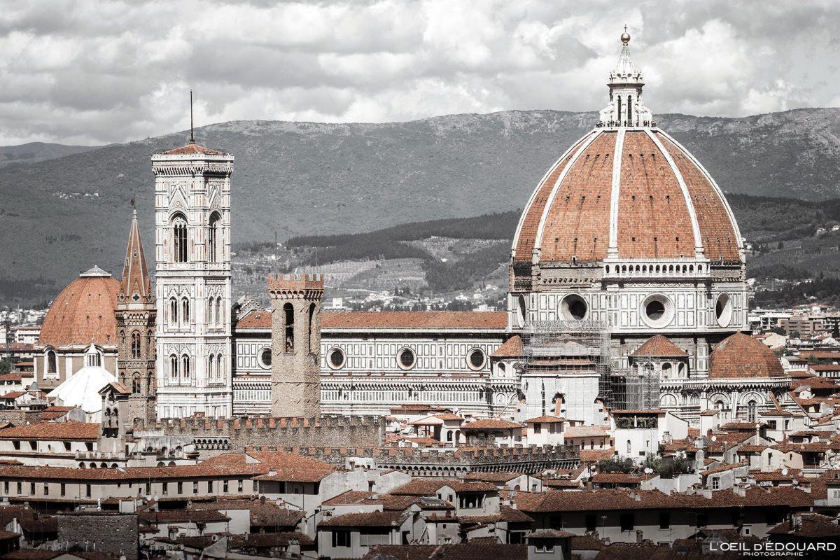Catedral de Florença Toscana Itália: Cúpula de Brunelleschi Arquitetura renascentista - Catedral Santa Maria del Fiore Duomo Florença Toscana Itália Paisagem urbana Toscana Itália Igreja