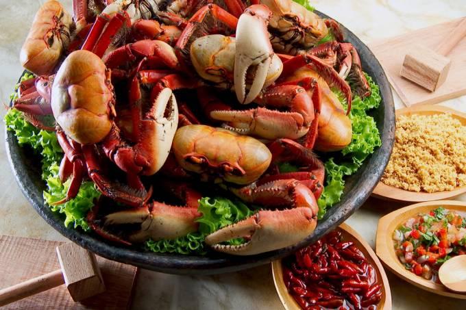 Outro prato tradicional da região é a Caranguejada Capixaba
