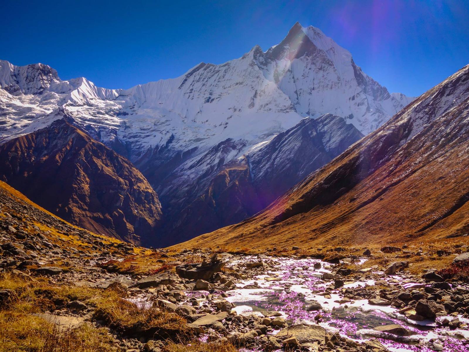 Jornada no acampamento-base de Annapurna
