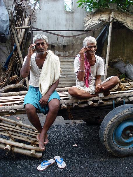 É por isso que não vou atender o telefone na Índia amanhã