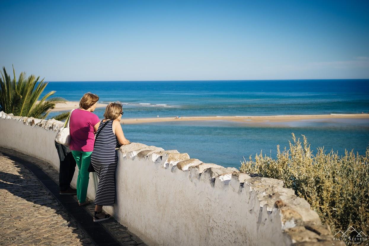 Praia da Fábrica visível do Forte Cacela Velha