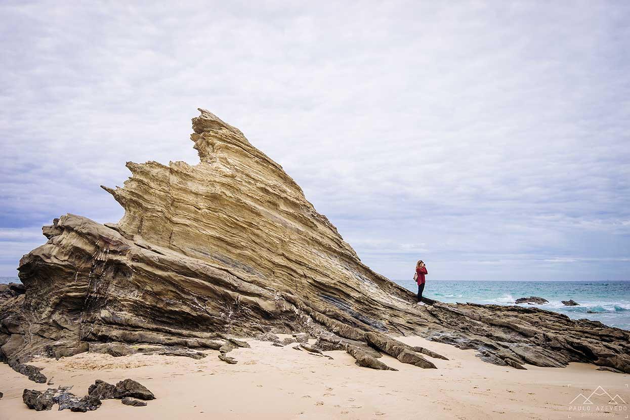 Praia da Samoqueira na costa do Alentejojo