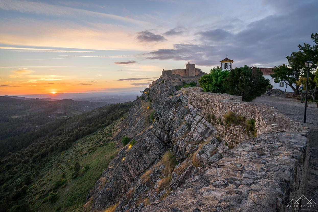 vista do castelo de Marvão, Alto Alentejo.
