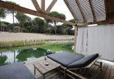 Conjunto de piscina orgânica
