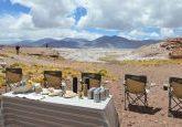 Nosso almoço no Salar de Talar organizado pelo Explora Atacama Hotel